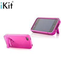 iKit iPhone Pink Flip Hard Case wKickstand 4  4S