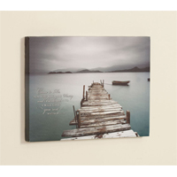 Desolate Pier Gallery Wrapped Canvas MLCVS38