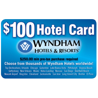 100 Wyndham Hotel Card
