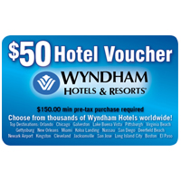 $50 Wyndham Hotel Discount Card