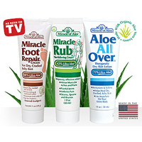 3-piece set of Miracle of Aloes Miracle Foot Repair Miracle Rub and Aloe All Over for only 5.00 - shipping included