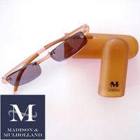 Madison & Mulholland - Amber 1.5x Sun Readers