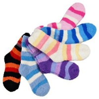 Comfy Cozy Fuzzy Socks 6 Pack- 13 with Free Shipping