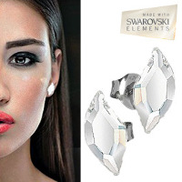 Armani Style Crystal Leaf Earrings - 11 with Free Shiping