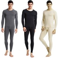 Mens Cotton 2-Piece Thermal Underwear Set - 18 with FREE Shipping