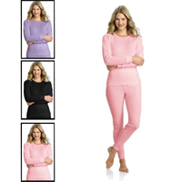 Womens Cotton 2-Piece Thermal Underwear Set - 18 with FREE Shipping