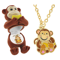 Kids Animal Pendant Boxed Necklaces- 10 with Free Shipping