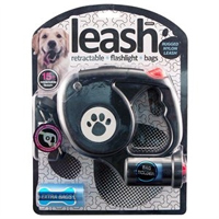 Retractable Dog Leash wFlashlight- 17 with Free Shipping